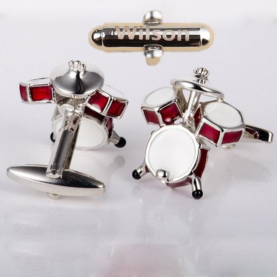custom cufflinks,Drum Set Cufflinks, Drummer Music,Mens Personalized,gifts for men,wedding gift,Vintage Style Cufflinks,cool gift for dad