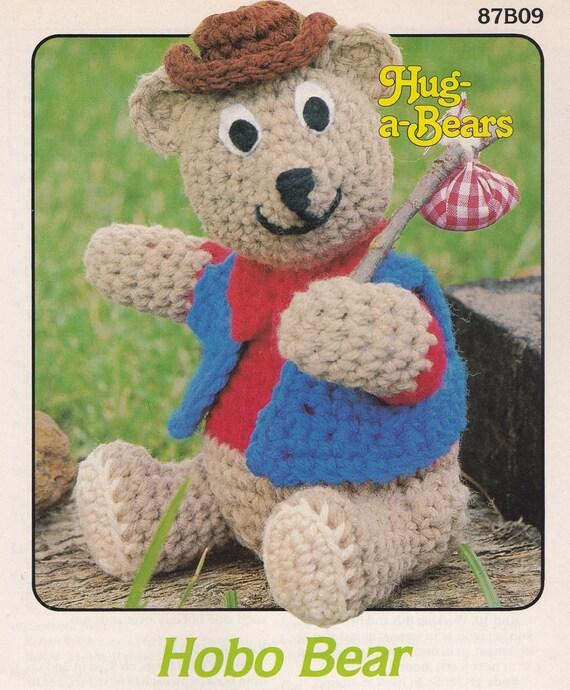 Oso abrazo a osos Hobo Attic Crochet oso de peluche patrón