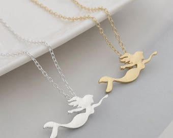 Mermaid Necklace Silver or Gold