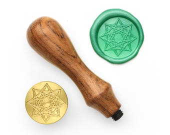 Mandalas Pattern - 33 - Design OD Wax Seal Stamp (DODWS0345)