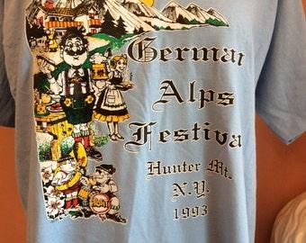 Vintage Tshirt, German Alps Festival, Hunter Mountain, New York, 1993 (B383)