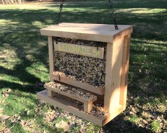 Handmade Bird Feeder, Lemonade Stand, Father's/Mother's Day Gift, Hanging Garden Accessory