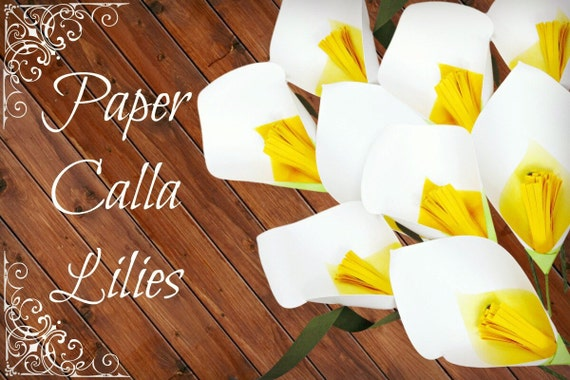 Paper Calla Lily Template & Tutorial, DIY Paper Flower Template ...