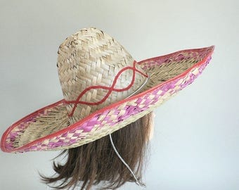 Mexican Sombrero Hat With Chin Ties