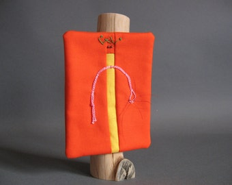 Miniature Quilt Whimsical Stick Figure by pam beal and wayne walma
