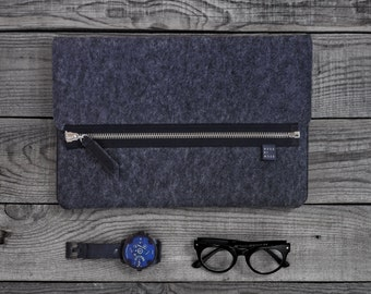 NEW Felt laptop case, Wool case, laptop sleeve, laptop cover, case for your style, housse macbook, MacBook Pro, MacBook Air
