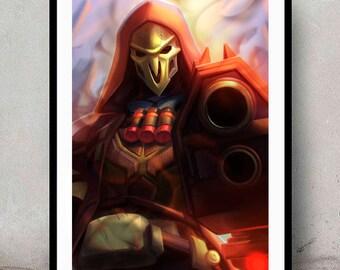 Reaper • Digital Painting • Wall Art