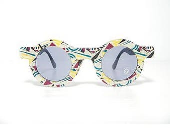 Vintage 1990's SWATCH EYES round Sunglasses Mod Toy For Joy Sw 713 001.