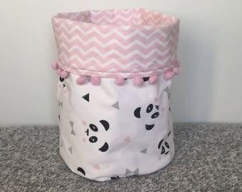 Small fabric storage bucket
