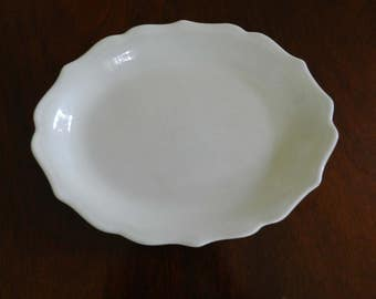 Syracuse China Scalloped Edged Platter