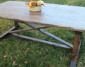 Rustic Farmhouse Table, Farmhouse Dining Table, Rustic Dining Table, Kitchen Table, Country Table, Farmhouse Furniture, Cabin Furniture,