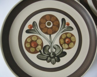 Six Langley/Denby Dinner Plates Mayflower Pattern