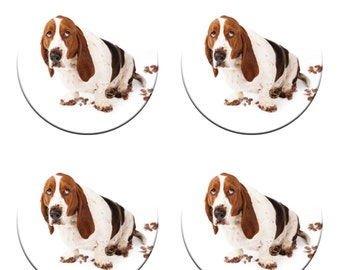 A pack of 4 BASSET HOUND dogs weights Ideal for weighing down patterns on delicate fabrics no need for pins like TV sewing Bee