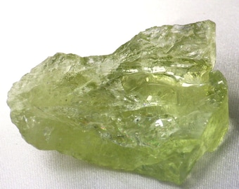 Heliodor-Ukraine 43.9 gr /219.5 Ct Large Crystal Fragment-Mostly Transparent with Natural Flaws-Pastel Green Color