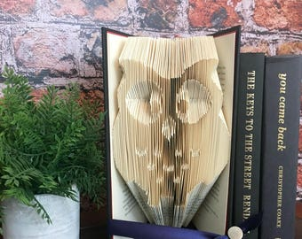 Owl Gifts For Women, Owl Gifts For Girls, Owl Gifts For Baby Girls, Teenage Girls Gift, Unusual Gifts For Women, Folded Book Art,