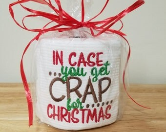 Crap for Christmas Embroidered Toilet Paper
