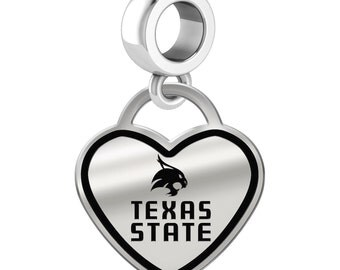 Texas State Bobcats Dangle Charms   Sterling Silver   Multiple Styles   Officially Licensed