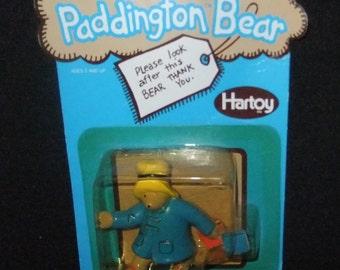 Paddington Bear figure carded vintage c1980s by Hartoy