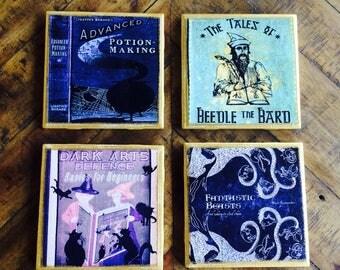 Harry Potter Coasters - Hogwarts Library Set of 4