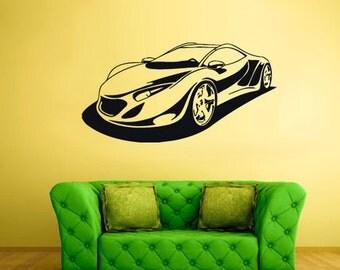 rvz1993 Wall Vinyl Decal Sticker Bedroom Decal Sport Car