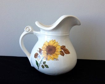 Vintage McCoy 7515 Sunflower Pitcher