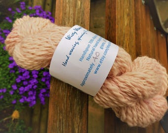 Handspun and natural dyed 70/30% Alpaca and Silk - 40 grams - dyed with Lac