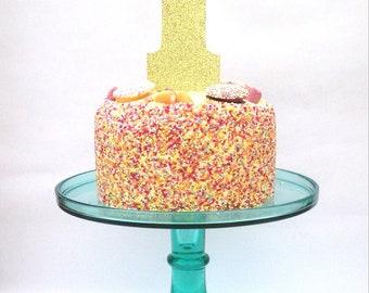 1 cake topper, cake topper, glitter cake topper, 1 party decor, 1 cake decoration, 1, one cake decoration
