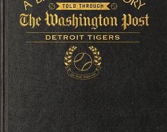 Washington Post Detroit Tigers Baseball Book - Leather