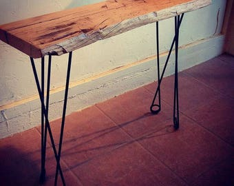 """Sale! Metal Table Legs, 16""""-36"""", 4 PC Set, Unique Hairpin, Safety Pin Style, Handmade, Metal, Steel"""