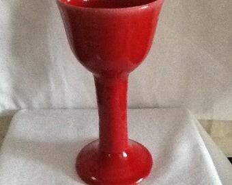 Large red goblet
