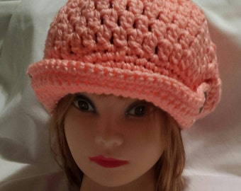 Hand Crochet Newsboy Hat