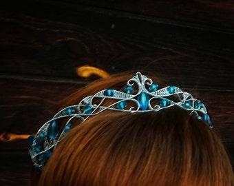 Jewelry set - diadem crown and slave braselet