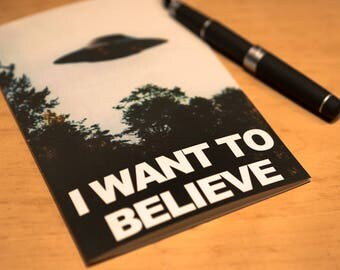 "X-Files ""I Want To Believe"" Greeting Card - A7, A9"