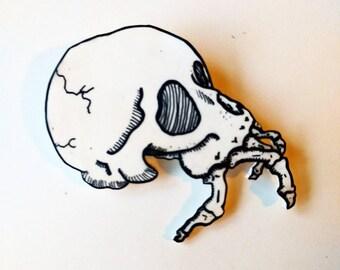 Hermit skull button