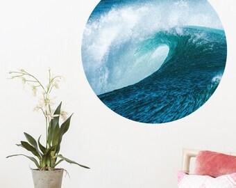 Big Blue Surf Dot Wall Decal