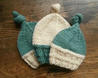 wool chunky rib infant hat