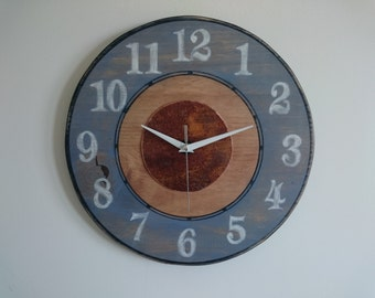 Wall clock handmade copper Ref: 013