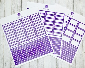 Student Sticker Pack | Passion Planner Stickers for the Classic and Compact Size