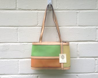 FLASH SALE! Vintage Jessica McClintock purse / translucent citrus