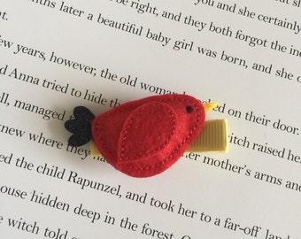 Red bird handmade baby/kid hairpin hair clip