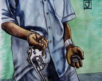 "Poster ""Booryokudan"" (gangsta) A3 format"
