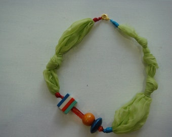 natural silk necklace.