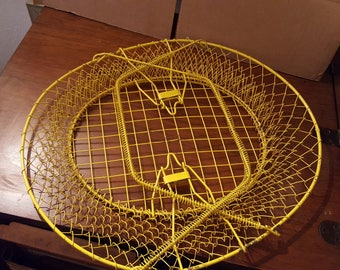 Vintage Yellow wire basket
