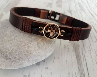 Gift for Valentines day ,Minimal Leather Bracelet,Leather Bracelet , Handmade Leather Bracelet ,Woman Bracelet ,valentine's day gift for her