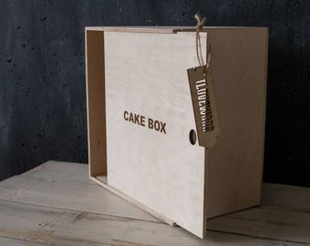 Cake box. Pie box