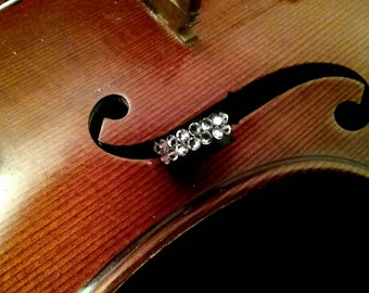 White Diamond Swarovski Crystal Violin Mute