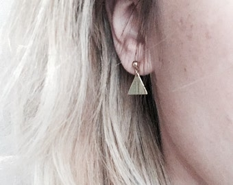 """Gold plated earrings from our """"Graphics"""" collection / / plate earrings Gold our """"Graphics"""" collection"""
