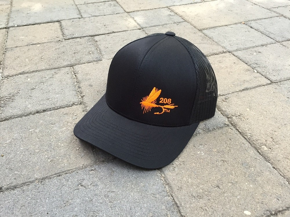 Area code art 208 area code fly fishing hat snapback for Fly fishing hat