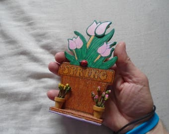 New Wooden Spring 3D Standing Flower Plaque!