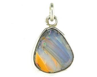 Australian Opal sterling silver pendant